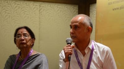 Pierre Assouline et Uma da Cunha, Directrice et Editrice de Film India Worldwide