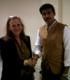 Colonel R. Rathore,  Sate Minister of Information and Broadcasting & Gabriele Brennen