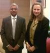 Prem Narain, First secretary MOIA & Gabriele Brennen